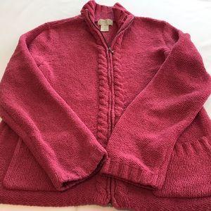 Sigrid Olsen women's sweater jacket size medium